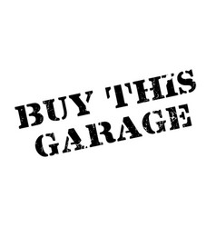 buy this garage rubber stamp vector image