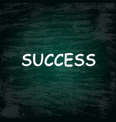 charcoal success background vector image