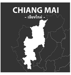 Chiang mai map province thailand vector