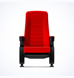 cinema movie theater red comfortable chair vector image