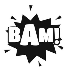 Comic boom bam icon simple black style vector