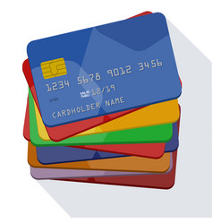 credit cards template vector image
