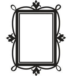 cute doodle frame element for design vector image