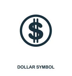 dollar symbol icon mobile app printing web site vector image