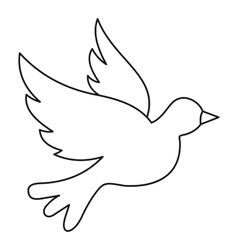 Dove icon outline style vector