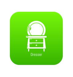 dresser icon green vector image