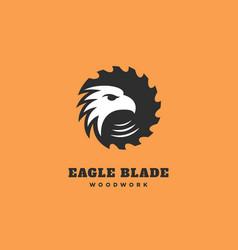 Eagle blade logo vector