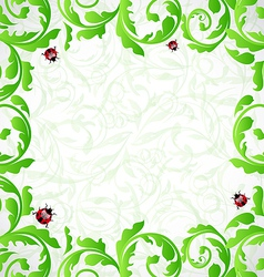 Eco friendly background with copy space for your vector image