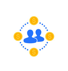 Employee costs flat icon vector