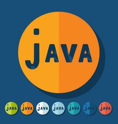 Flat design java vector image