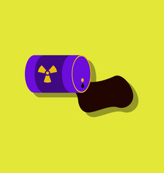 Flat icon design collection waste pollution vector