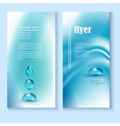 flyer template with a blue background and the vector image