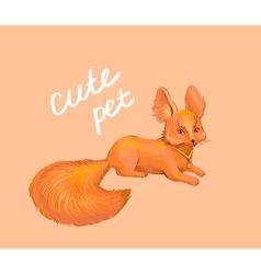 Fox cute pet vector