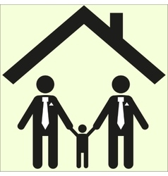 Gay family icon sexual orientation sign white vector
