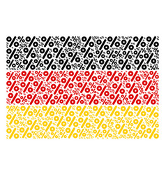 Germany flag collage of percent items vector
