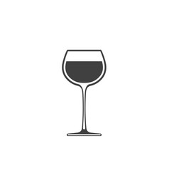 Goblet wine icon wineglass placed on white vector