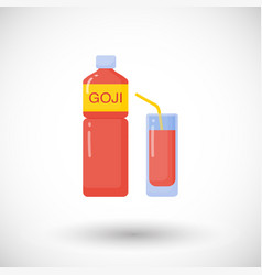 goji berries juice flat icon vector image
