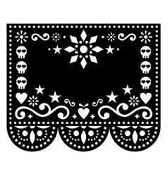 halloween papel picado greeting card design vector image