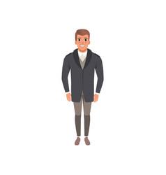 Handsome young man in elegant suit vector