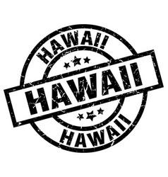 Hawaii black round grunge stamp vector