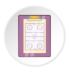 Hockey game plan icon cartoon style vector image