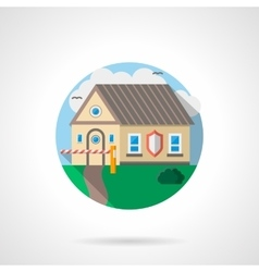House under protection color detailed icon vector image