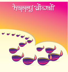 indian big festival diwali offer poster design vector image
