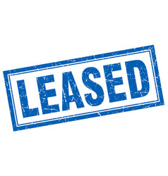Leased square stamp vector