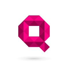 Letter Q mosaic logo icon design template elements vector