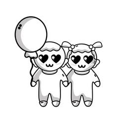line tender babies children with clothes and vector image