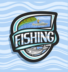 Logo for fishing vector