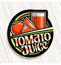 Logo for tomato juice vector