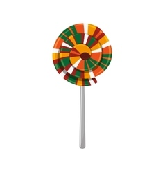 Lolly of fair food design vector