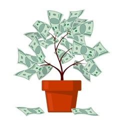 Money tree business banking abundance vector
