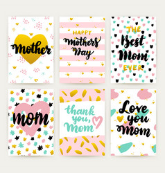 mothers day hipster trendy posters vector image