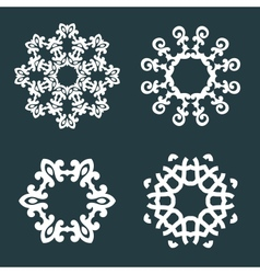 Ornamental patterns vector image