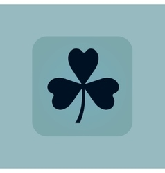 Pale blue clover icon vector