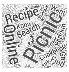 Picnic Recipes How to Find Them and Why You Should vector