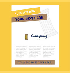 Piller title page design for company profile vector