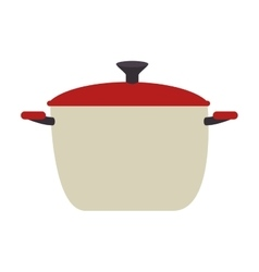 pot kitchen isolated icon vector image