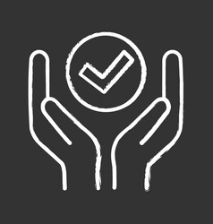 Quality services chalk icon vector