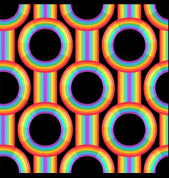 rainbow background retro seamless pattern 50s vector image