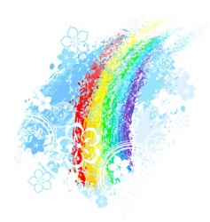 rainbow painted vector image