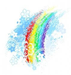 Rainbow painted vector