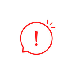 Red linear attention icon like emphasis vector