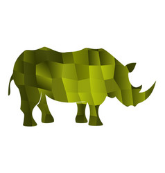 rhinoceros green vector image