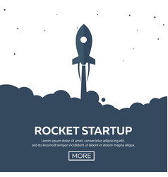 rocket startup business rocket ship in a flat vector image