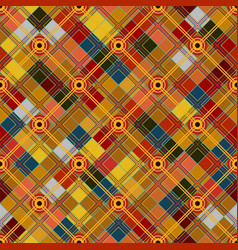 Seamless tartan pattern checkered colorful bright vector