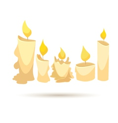 Set of candles isolated on a white backgrounds vector