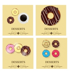 Set of the dessert menu vector image